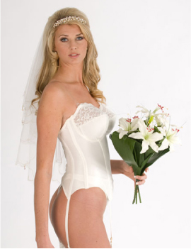 Flattering and very sexy low back Basque just for you on your special day
