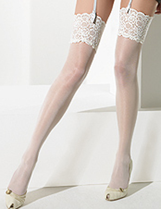 exquisite hosiery to complement your outfit on your special day