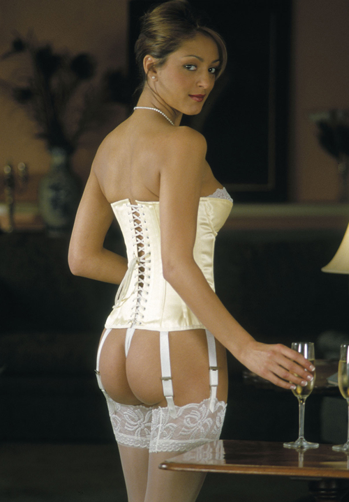 Basque style overbust corset bridal lingerie shop for What undergarments for wedding dress shopping
