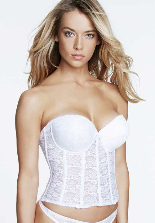 Low back basque with push up for Push up bra cups for wedding dress