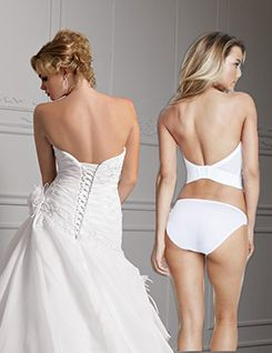 Low back wedding bustier